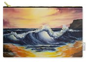Ocean Sunset Carry-all Pouch by C Steele