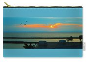 Ocean Sunset With Birds Carry-all Pouch