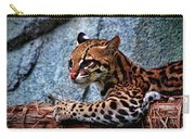 Ocelot Painted Carry-all Pouch
