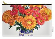 October Chrysanthemums Carry-all Pouch by Christopher Ryland