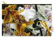 Gold And White Orchids Carry-all Pouch