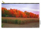 October Sunset On The Autumn Woods Carry-all Pouch