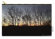 October Sunset Trees Silhouettes Carry-all Pouch