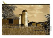 Ohio Farm In Sepia Carry-all Pouch by Frozen in Time Fine Art Photography