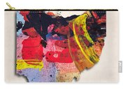 Ohio Map Art - Painted Map Of Ohio Carry-all Pouch