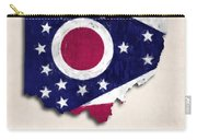 Ohio Map Art With Flag Design Carry-all Pouch