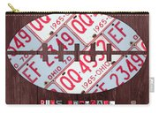 Ohio State Buckeyes Football Recycled License Plate Art Carry-all Pouch