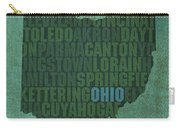Ohio State Word Art On Canvas Carry-all Pouch