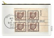 Ohio Three Cent Stamp Plate Block Carry-all Pouch