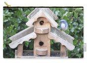 Oil Paint - Blue Bird Carry-all Pouch