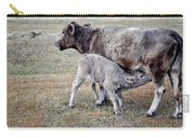 Oil Paint Look Cow And Calf Portrait Usa Carry-all Pouch