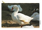 Oil Painting - A Duck Making A Pose Carry-all Pouch