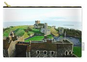 Oil Painting - Aerial View Of Dover Castle Carry-all Pouch