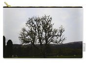 Oil Painting - An Old Tree In The Middle Of A Garden And Playground Carry-all Pouch