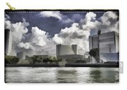 Oil Painting - Buildings Along The Waterfront In Singapore Carry-all Pouch