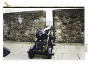 Oil Painting - Cannons And Cannon Balls At Walls Of Stirling Castle Carry-all Pouch