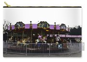 Oil Painting - Children And Adults At The Merry Go Round Inside The Blair Drumm Carry-all Pouch