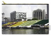 Oil Painting - Floating Platform In The Marina Bay Area In Singapore Carry-all Pouch