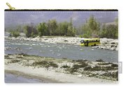 Oil Painting - Front Part Of School Bus In A Mountain Stream On The Outskirts Of Srinagar Carry-all Pouch