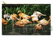 Oil Painting - Number Of Flamingos Inside The Jurong Bird Park Carry-all Pouch