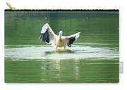 Oil Painting - Pelican Flapping Its Wings Carry-all Pouch