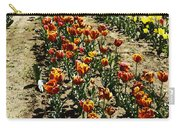 Oil Painting - Red And Yellow Tulips Inside The Tulip Garden In Srinagar Carry-all Pouch