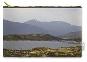 Oil Painting - Rugged Shoreline And Waters Of A Loch In The Scottish Highlands Carry-all Pouch