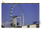 Oil Painting - Singapore Flyer And Marina Bay Sands Along With Preparation For  Carry-all Pouch