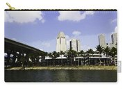 Oil Painting - Span Of The Benjamin Sheares Bridge With Its Pillars In Singapor Carry-all Pouch