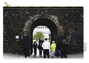 Oil Painting - Staff And Tourists At The Entrance Of Stirling Castle Carry-all Pouch
