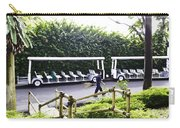 Oil Painting - Stationary Battery Powered Tourist Transport Vehicle Inside The Jurong Bird Park Carry-all Pouch