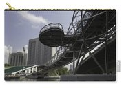 Oil Painting - The Bayfront Bridge And Helix Bridge In Singapore Carry-all Pouch