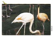 Oil Painting - The Head Of A Flamingo Under Water In The Jurong Bird Park In Singapore Carry-all Pouch