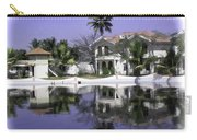 Oil Painting - View Of The Cottages And Palm Trees Carry-all Pouch