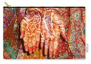 Oil Painting - Wonderfully Decorated Hands Of A Bride Carry-all Pouch
