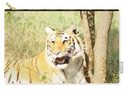 Oil Painting - An Alert Tiger Carry-all Pouch