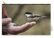 Oil Painting Black-capped Chickadee  Carry-all Pouch