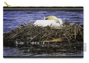 Oil Painting Nesting Swan Michigan Carry-all Pouch