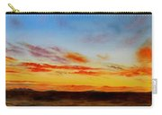 Oil Painting - When The Clouds Turn Red Carry-all Pouch