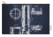 Oil Well Packer Patent From 1904 - Navy Blue Carry-all Pouch
