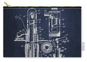 Oil Well Pump Patent From 1912 - Navy Blue Carry-all Pouch
