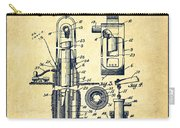 Oil Well Pump Patent From 1912 - Vintage Carry-all Pouch