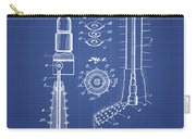 Oil Well Reamer Patent From 1924 - Blueprint Carry-all Pouch