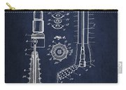 Oil Well Reamer Patent From 1924 - Navy Blue Carry-all Pouch