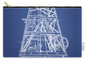 Oil Well Rig Patent From 1893 - Blueprint Carry-all Pouch