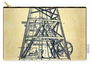 Oil Well Rig Patent From 1893 - Vintage Carry-all Pouch