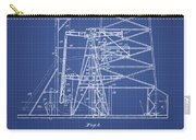Oil Well Rig Patent From 1917 - Blueprint Carry-all Pouch