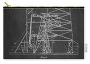Oil Well Rig Patent From 1917- Dark Carry-all Pouch