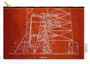 Oil Well Rig Patent From 1917- Red Carry-all Pouch