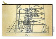 Oil Well Rig Patent From 1917- Vintage Carry-all Pouch